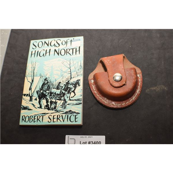 LEATHER VINTAGE COPENHAGEN SNUFF CAN HOLDER AND SERVICE BOOK