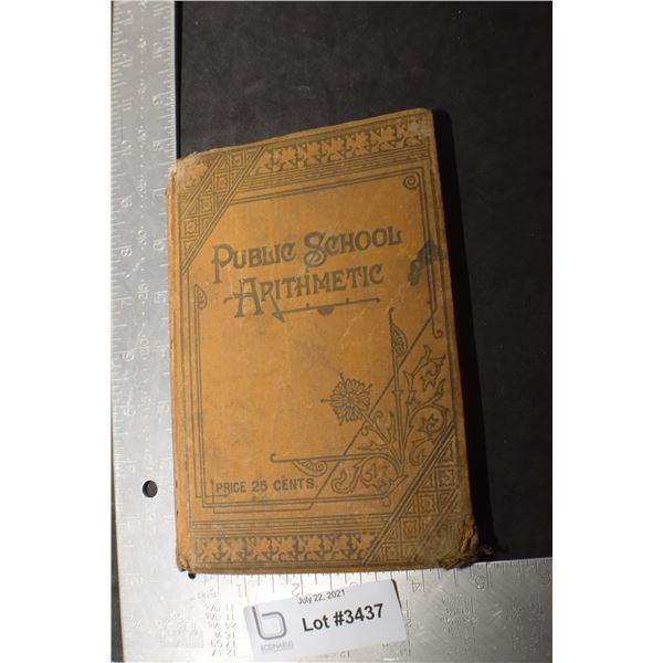 1894 MATH  SCHOOL BOOK