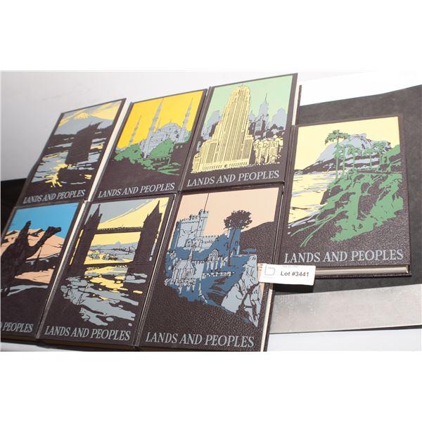 "FABULOUS VINTAGE ' LANDS & PEOPLE "" BOOK SET"