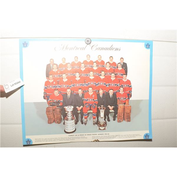 1966 MONTREAL CANADIEN NHL TEAM PICTURE