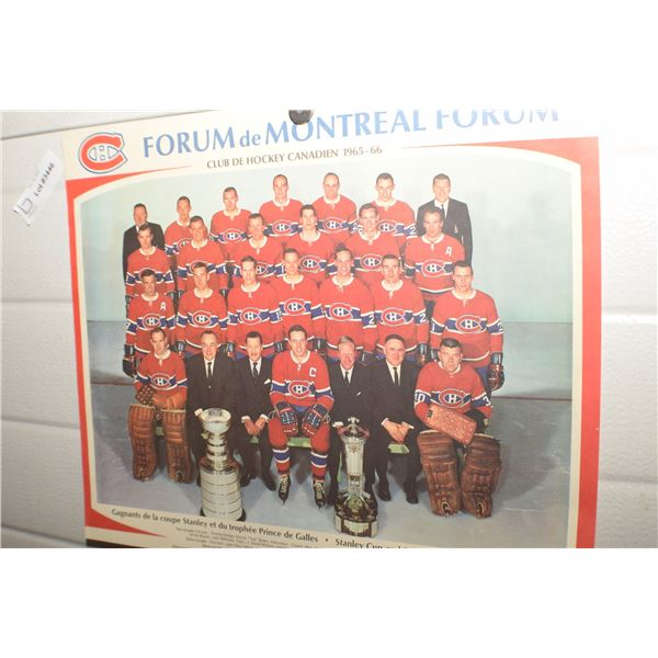 MONTREAL CANADIEN NHL PICTURE VINTAGE