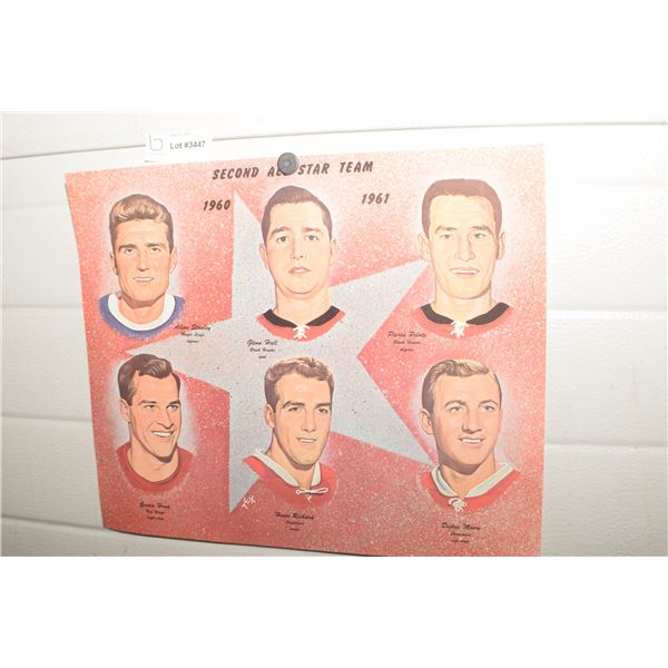 MONTREAL CANADIEN NHL PICTURE VINTAGE ALL STAR TEAM 2