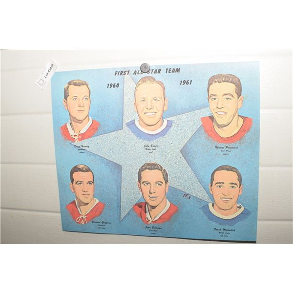 MONTREAL CANADIEN NHL PICTURE VINTAGE ALL STAR TEAM 1