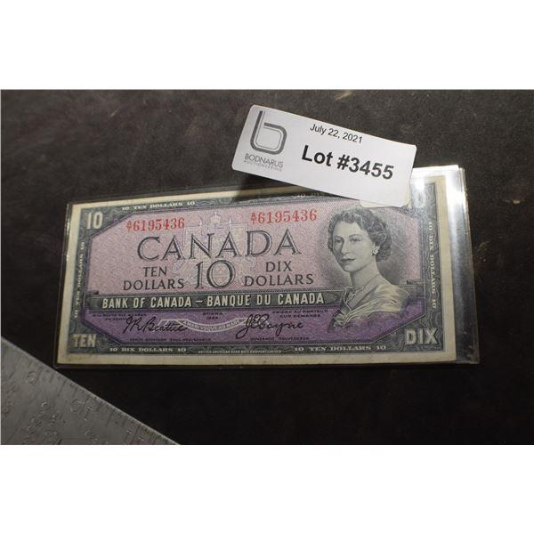 1954 CANADA CANADIAN $10 MONEY BILL BANK NOTE