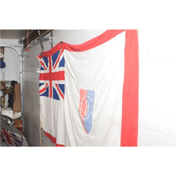 RARE UNION WWII FLAG 8 '  BOND OFFERING SERIES 8 AND 9 , MADE FOR STORES