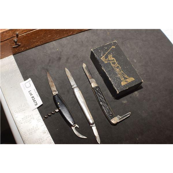 KNIVES LOT INCLUDES BOKER SOLINGEN