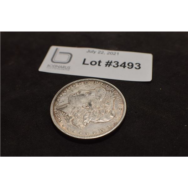 1890  USA SILVER DOLLAR