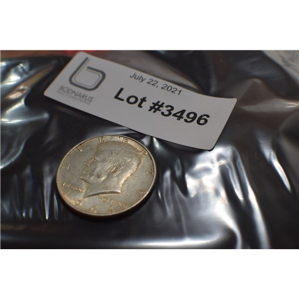 1964  USA SILVER 1/2 DOLLAR