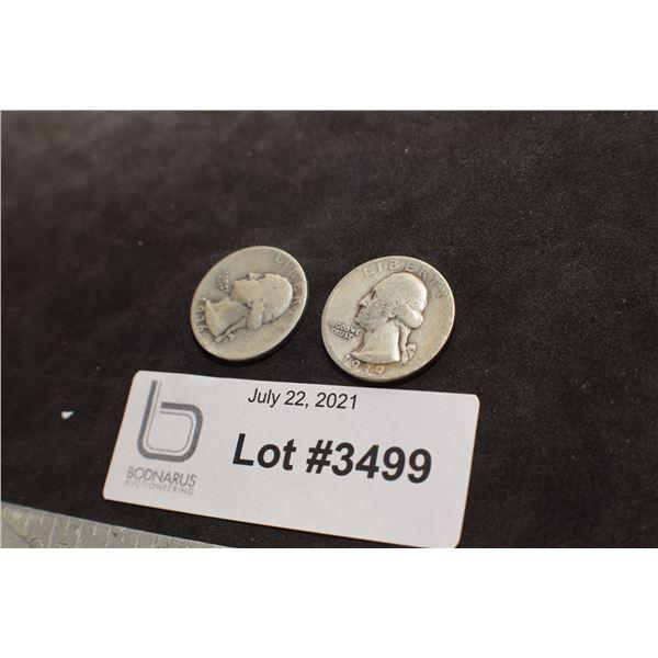 1936 1939   USA SILVER 1/4 QUARTER DOLLAR COIN