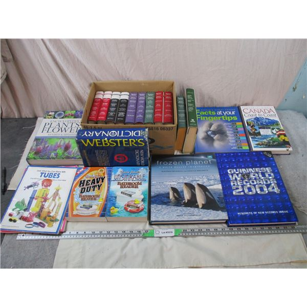 Readers digest, Flower Encyclopedia, Guiness World Records, Bathroom Readers, Craft Books