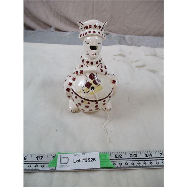 (Ceramic Kangaroo) - Ukrainian String + Scissor Holding Ornament