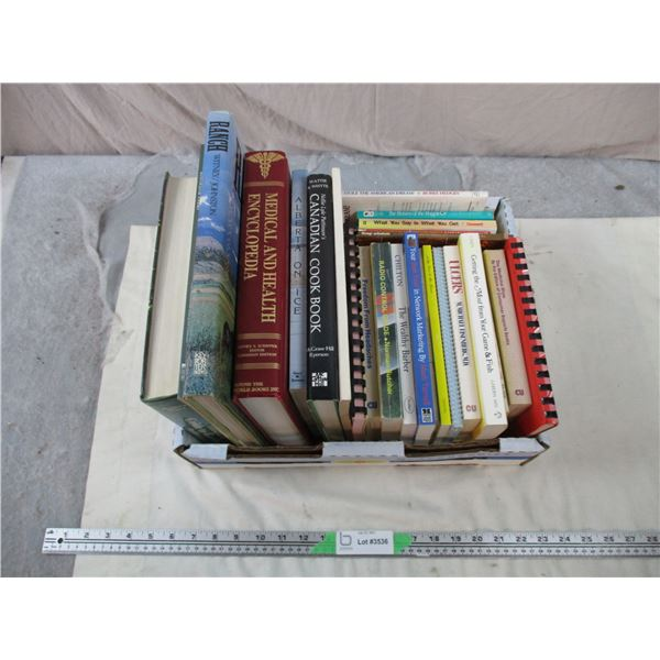 Large Lot of books, cooking, self insight, etc