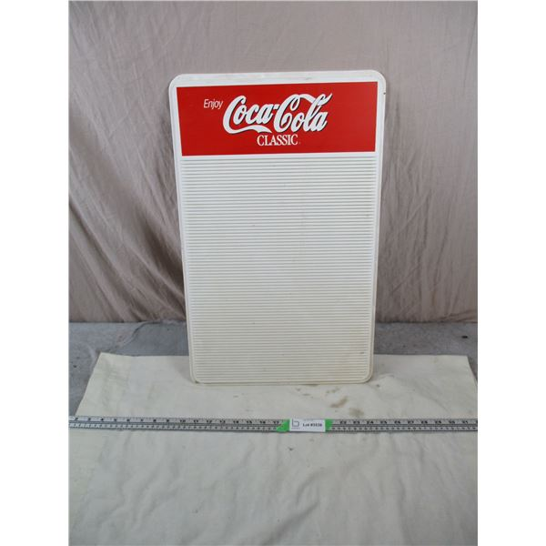 "Coca-Cola plastic Menu-board - 14.5""x23.5"""