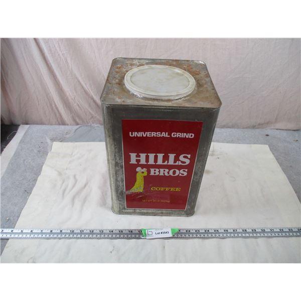 Hills Bros Large Coffee Tin
