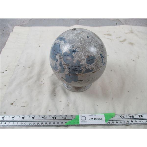 """Vintage """"The Moon"""" globe - Small Tin Globe with plastic base of all the Lunar Landings"""