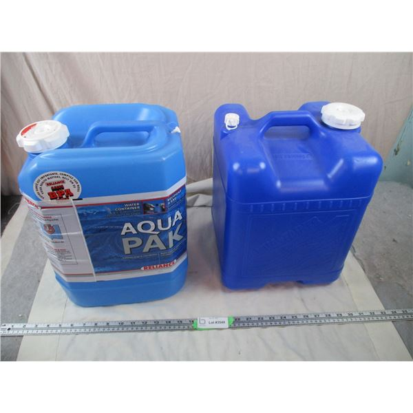 Two Aqua-lite water containers - 5 gallon