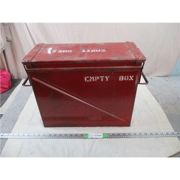 """Red Military Crate """"Pallet Filler"""" empty munition box 18x8x14"""