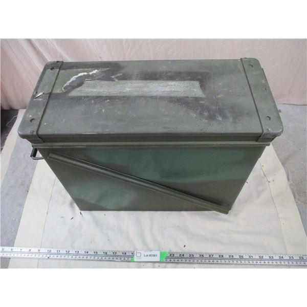 Green Metal Military Crate - 18x8x14