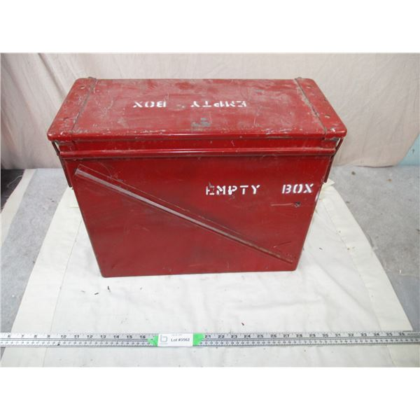 """Red Metal Military Crate """"pallet filler"""" - 18x8x14"""