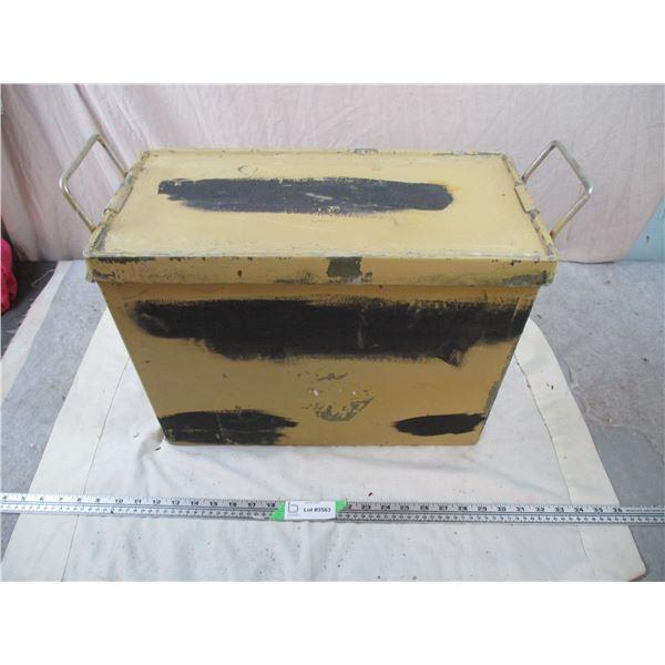 Tan Fiberglass Military Crate 18x10x14