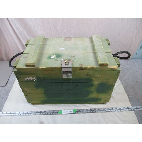 """Small Wooden Military Crate - 20""""x12""""13"""