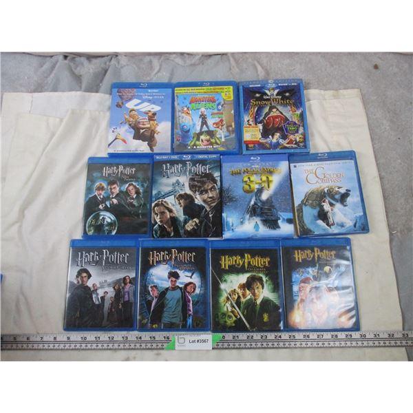 Blu-Ray Movies Harry Potter + kids movies