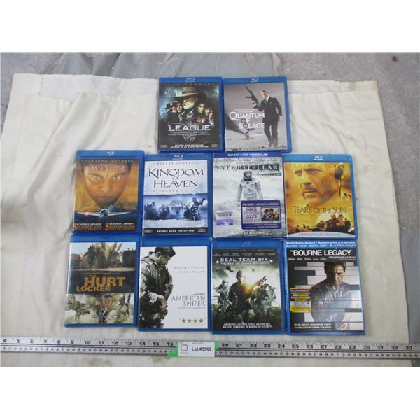 10 Blu-ray movies lot - Army related action movies