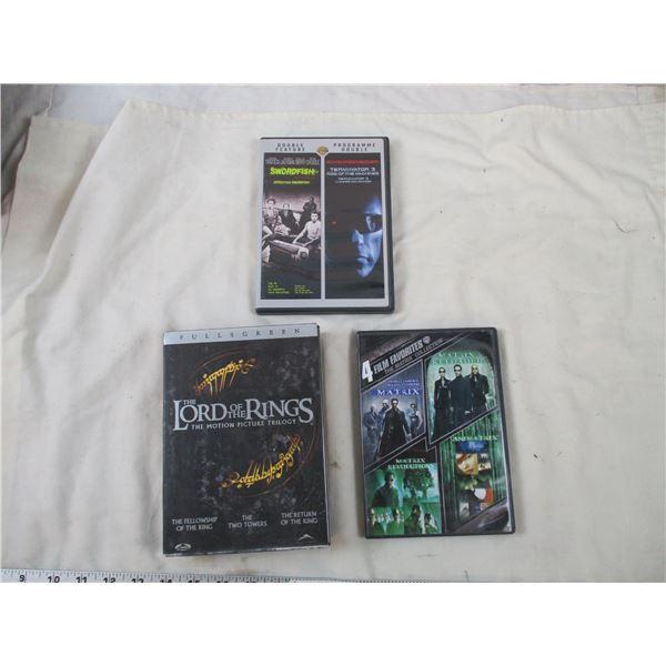 Lord of the Rings DVD Box Set + Matrix 4 movie DVD Set + Terminator