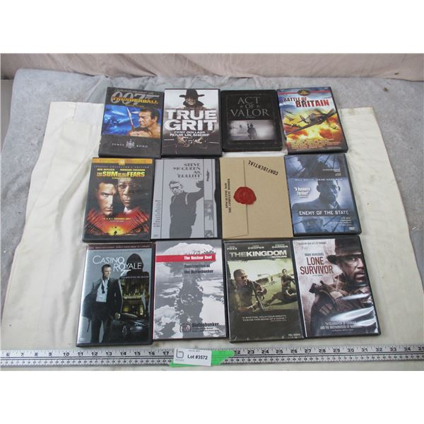 12 DVD Movies - War Related