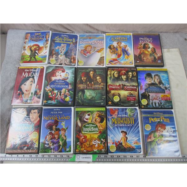 15 DVD Movies - Disney and Kids related