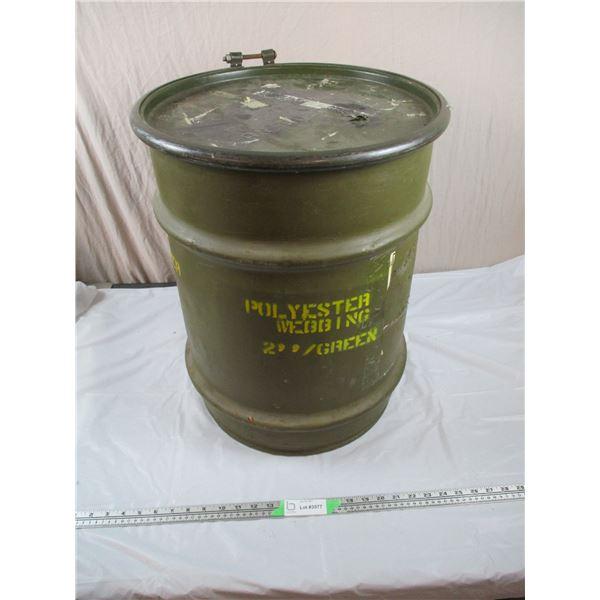 """Jumbo sized military Drum - 17"""" diameter, 22"""" tall"""