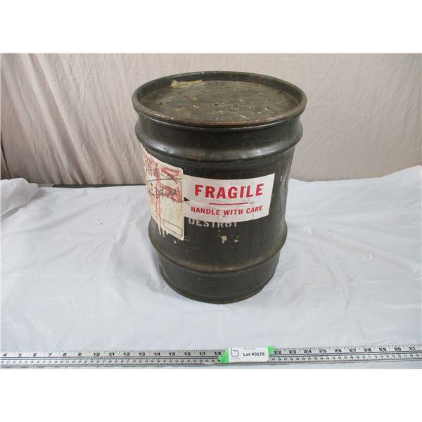 "Medium sized militart Drum - 11"" diameter, 15"" tall"