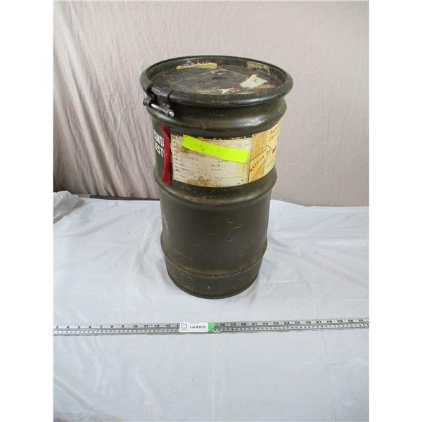Tall military Drum - 12  diameter, 21  tall