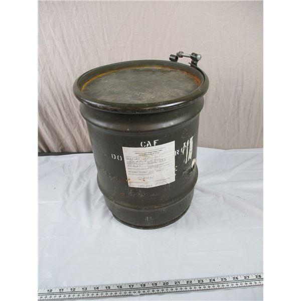 "Military Drum - Medium Size, stackable - 12""diameter, 14.5"" tall"