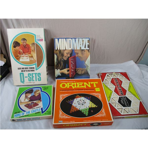 Board Games - Hex-o-gram, MindMaze, Orient, Q-sets, King of the Castle