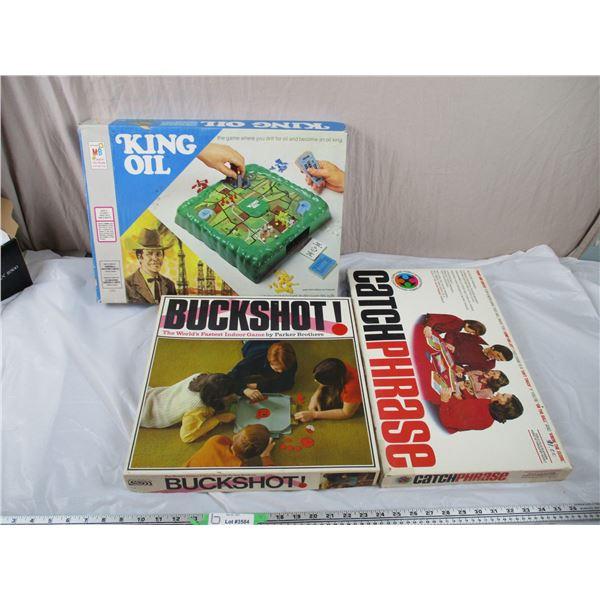 Board Games - King Oil, Buckshot, CatchPhrase