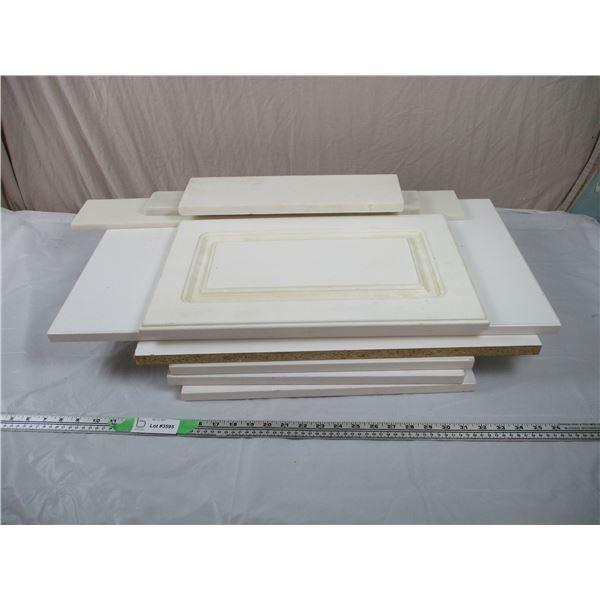 Half Dozen Small Shelves, 3 pieces of stone slabs