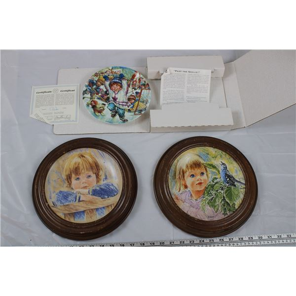 Maple Leafs Plate (1997) + Francis Hook Legacy Collector Plates (1985, 1986)