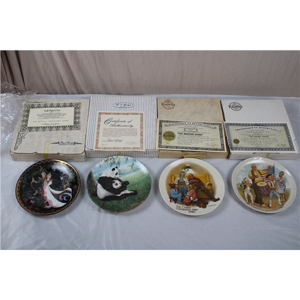 Edwin Knowles, Kingdom of Thailand, Panda Collectors Plates - 1980's