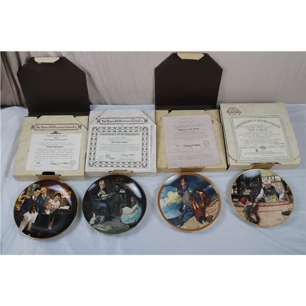 Edwin Knowles - Normal Rockwell Collector Plates with CoA - early 90's