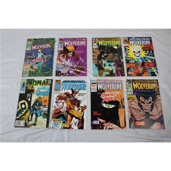 8 Vintage Marvel Comics - Wolverine