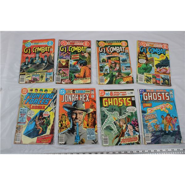 DC Comics Lot of 8 - GI Combat, Ghosts, Jonah Hex Fighting Forces