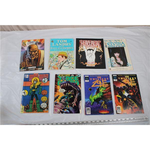 Comic Lot - misc, heavy metal activity book, twilight zone