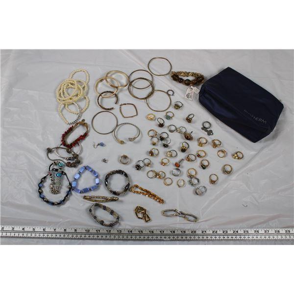 Jewellery Lot - Bracelets + Rings