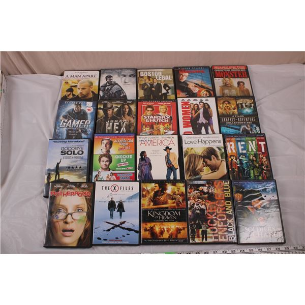 20 DVD Movies - miscellaneous titles