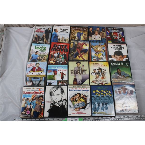 20 DVD movies - Comedy/adventure