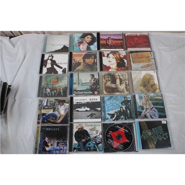 CD Lot -Charlie Major, Celine Dion, Shania Twain, Sheryl Crow, Joni Mitchell, Rio, Alan Jackson +