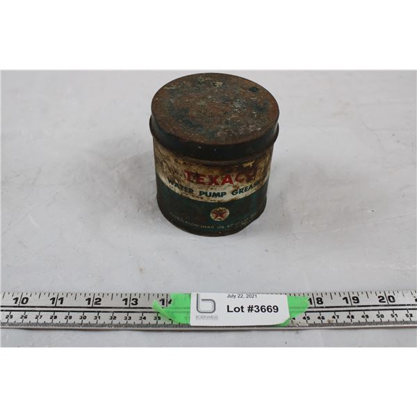 Texaco Water Pump Grease Tin Can (small)