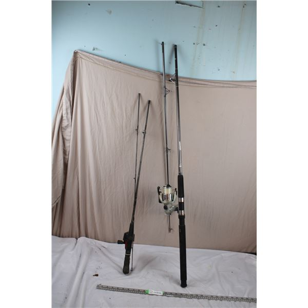 Fishing Rods with Open and Closed Reels