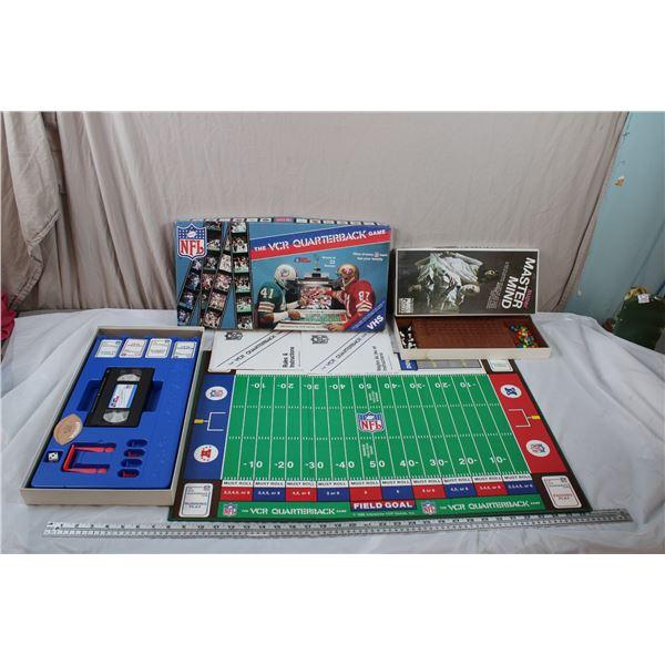 NFL VCR Quarterback Game + Super Mastermind